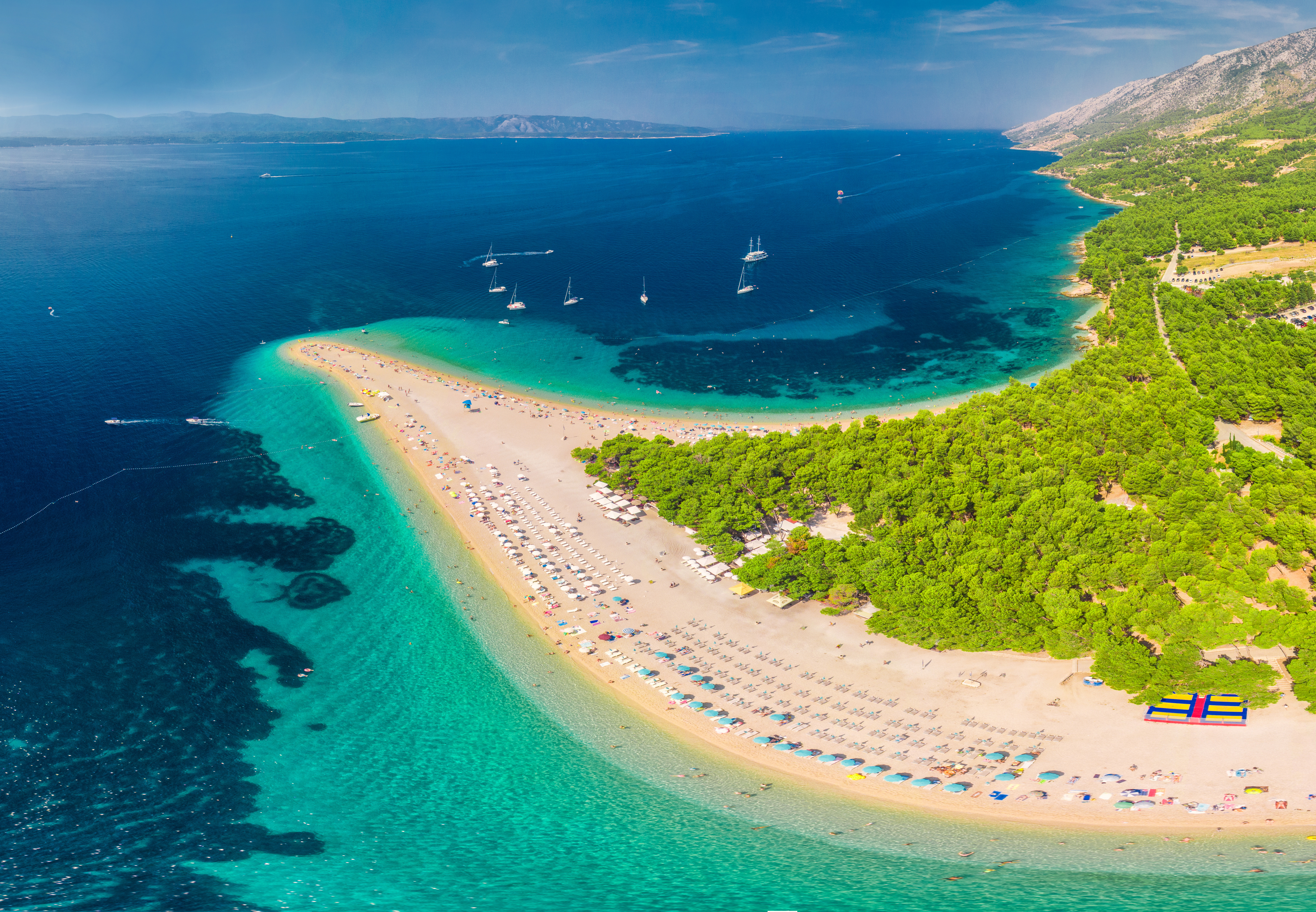 Zlanti Rat Beach in Brac, Croatia - Best Croatian Island Hopping Itinerary