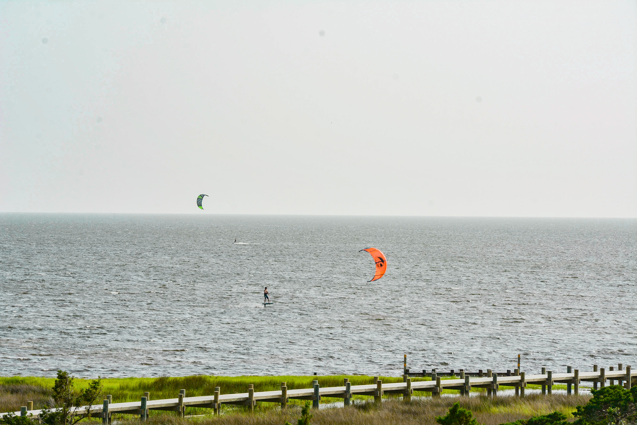 Kite surfing - Outer Banks Beach